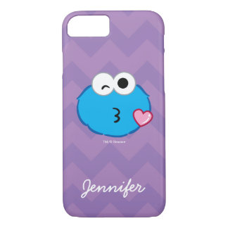 Cookie Face Throwing a Kiss | Add Your Name iPhone 8/7 Case