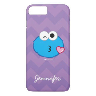 Cookie Face Throwing a Kiss | Add Your Name iPhone 8 Plus/7 Plus Case