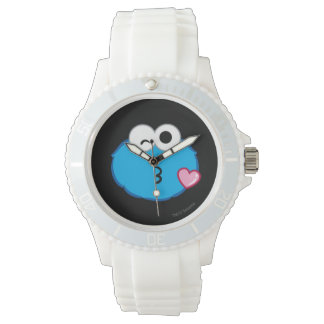 Cookie Face Throwing a Kiss Wrist Watches
