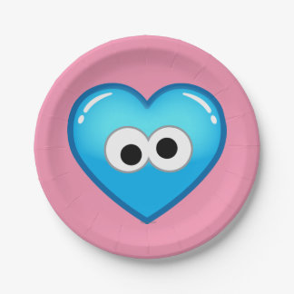 Cookie Heart 7 Inch Paper Plate