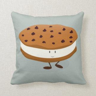 Cookie ice cream sandwich character cushion