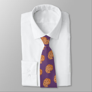 Cookie Lover - Choc Chip - Custom Color Striped Tie