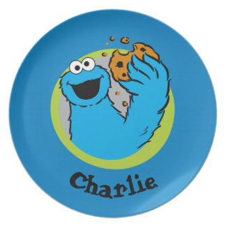 Cookie Monster  | Add Your Name Party Plates