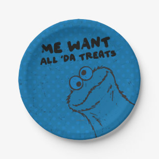 Cookie Monster - All 'Da Treats! Paper Plate