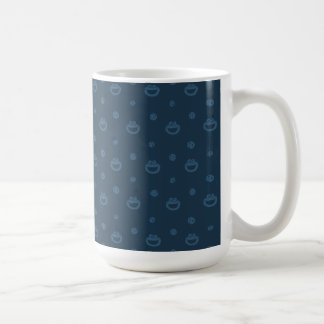 Cookie Monster and Cookies Blue Navy Pattern Coffee Mug