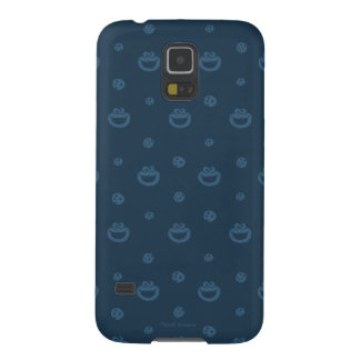 Cookie Monster and Cookies Blue Navy Pattern Galaxy S5 Case