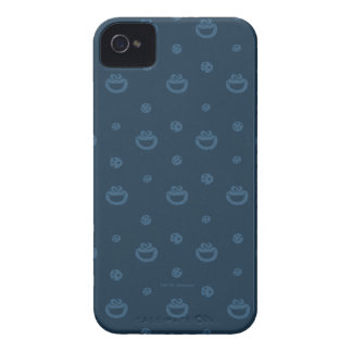 Cookie Monster and Cookies Blue Navy Pattern iPhone 4 Covers