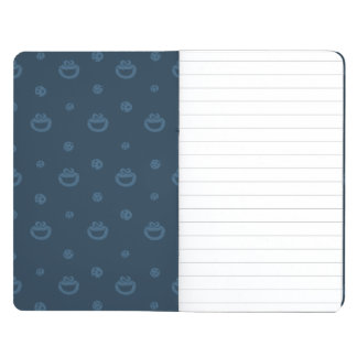 Cookie Monster and Cookies Blue Navy Pattern Journal
