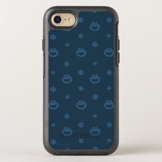 Cookie Monster and Cookies Blue Navy Pattern OtterBox Symmetry iPhone 7 Case