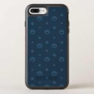 Cookie Monster and Cookies Blue Navy Pattern OtterBox Symmetry iPhone 8 Plus/7 Plus Case