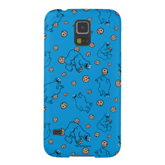 Cookie Monster and Cookies Blue Pattern Cases For Galaxy S5