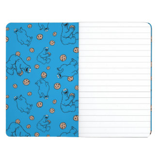 Cookie Monster and Cookies Blue Pattern Journal