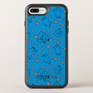 Cookie Monster and Cookies Blue Pattern OtterBox Symmetry iPhone 8 Plus/7 Plus Case