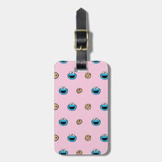 Cookie Monster and Cookies Pink Pattern Bag Tag