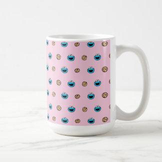 Cookie Monster and Cookies Pink Pattern Coffee Mug