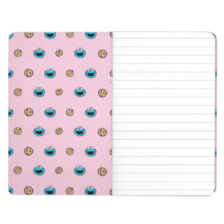 Cookie Monster and Cookies Pink Pattern Journal