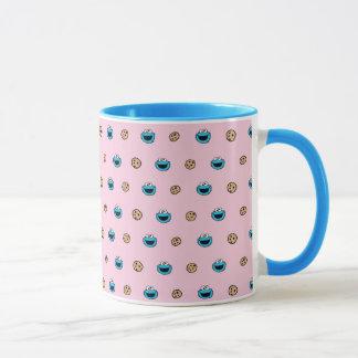 Cookie Monster and Cookies Pink Pattern Mug