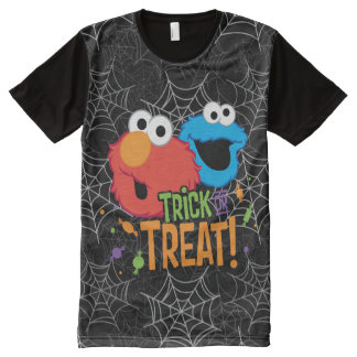 Cookie Monster and Elmo - Trick or Treat All-Over Print T-Shirt
