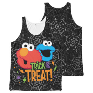 Cookie Monster and Elmo - Trick or Treat All-Over Print Tank Top