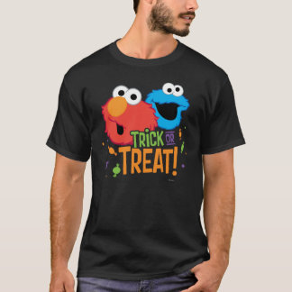 Cookie Monster and Elmo - Trick or Treat T-Shirt