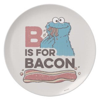 Cookie Monster | B is for Bacon Plate
