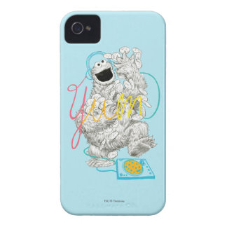 Cookie Monster B&W Sketch Drawing Case-Mate iPhone 4 Cases
