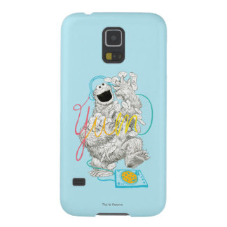 Cookie Monster B&W Sketch Drawing Galaxy S5 Case