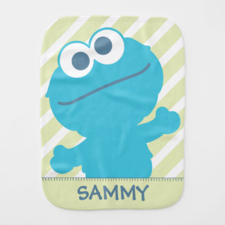 Cookie Monster Baby | Add Your Name Burp Cloth
