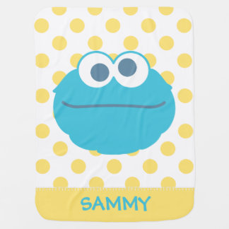 Cookie Monster Baby Big Face | Add Your Name Baby Blankets