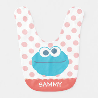 Cookie Monster Baby Big Face | Add Your Name Bibs