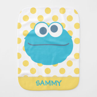 Cookie Monster Baby Big Face | Add Your Name Burp Cloth