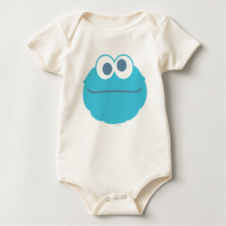 Cookie Monster Baby Big Face Baby Bodysuit