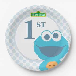 Cookie Monster Baby Birthday 9 Inch Paper Plate