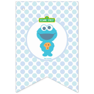 Cookie Monster | Baby's First Birthday Bunting