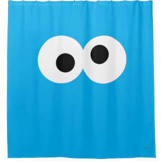 Cookie Monster Big Face Shower Curtain