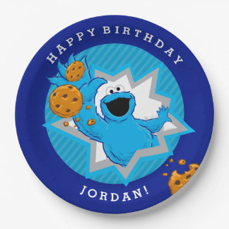 Cookie Monster Birthday 9 Inch Paper Plate