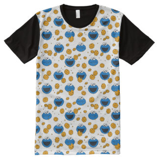 Cookie Monster | C is for Cookie Pattern All-Over Print T-Shirt