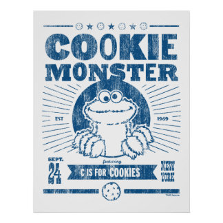 Cookie Monster - C is for Cookies Poster