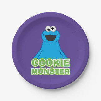 Cookie Monster Character Art 7 Inch Paper Plate