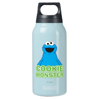 Cookie Monster Character Art Insulated Water Bottle