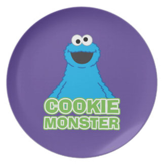 Cookie Monster Character Art Party Plates