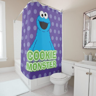 Cookie Monster Character Art Shower Curtain