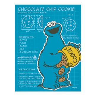 Cookie Monster - Chocolate Chip Cookie Poster