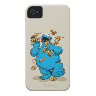 Cookie Monster Crazy Cookies iPhone 4 Cases