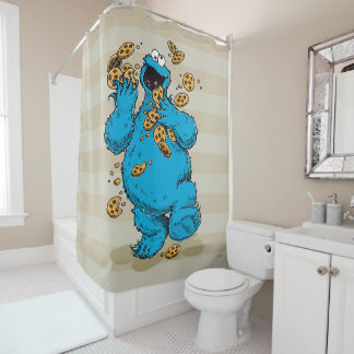 Cookie Monster Crazy Cookies Shower Curtain