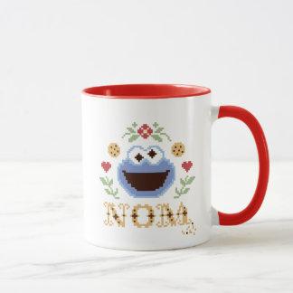 Cookie Monster Cross-Stitch Mug