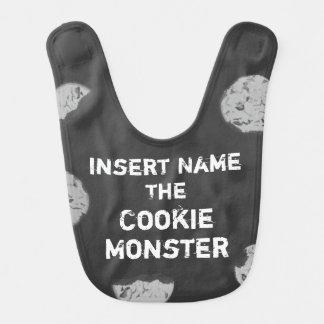 Cookie Monster Customizable Chalkboard Baby Bibs