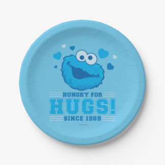 Cookie Monster Distressed Paper Plate