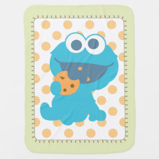Cookie Monster Eating Cookie Baby Blanket