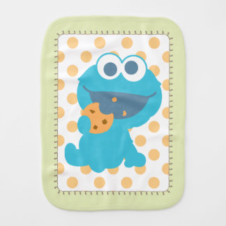 Cookie Monster Eating Cookie Burp Cloth